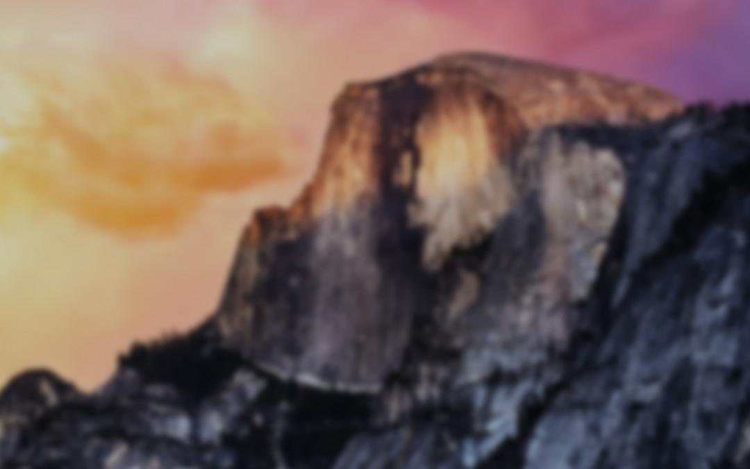 Designing Yosemite Desktop